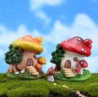 Мультфильм грибной дом мох микро пейзаж террариум Jardin украшения сказочный сад миниатюры гном бонсай украшения дома
