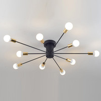 Creative Iron Spark Living Room Ceiling Lamp Bedroom Spider ...