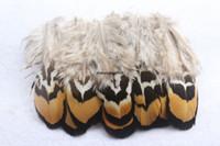 200 ADET güzel Sarı dilim tüy sülün tüyleri 2-4-inç 5-10 cm Tatil düğünler birçok amaç için kullanılır