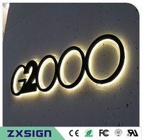 Factory Outlet Outdoor 304 # Edelstahl-Hintergrundbeleuchtetes LED-Zeichen, benutzerdefinierte Outdoor-LED-Kanalbuchstaben