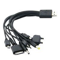 متعدد 10 في 1 العالمي متعدد الوظائف لعبة الهاتف الخليوي USB شحن خط شاحن كابل كابلات الهاتف المحمول