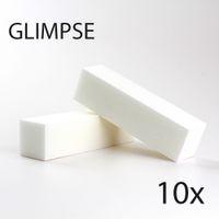 Wholesale  - 照明10ピースホワイトネイルファイルバッファブロックグッド品質バフシングサンディングファイルPedicureサロンのためのPedicure Manicure Care