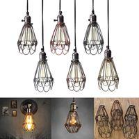 Retro lampada industriale Vintage Covers Pendant Problemi Lampadina Guardia gabbietta montaggio a soffitto Hanging Bar Ombra Cafe Lamp