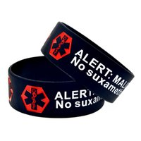 1PC Alert! Malignant Hyperthermia Silicone Wristband 1 Inch ...