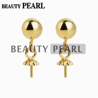 5 Pairs Wholesale 5mm Ball Gold Vermeil 925 Sterling Silver ...