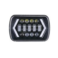20pc 90W 5x7 (6x7) todo terreno faros H4 faro funcionamiento luces de color ámbar señal de giro fuera de carretera wrangler auto remolque de camión tractor 4x4