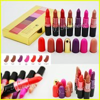 In stock 7 Colors kit M lipstick matte Makeup Luster Lipstic...