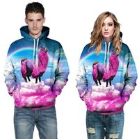 New digital 3d sweatshirts hoodies will printing star rainbo...