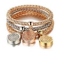 Braccialetti dell'albero della vita Designer Designer Vintage Strass Gold Color Diamond Charm Braccialetto Popcorn Catena Gioielli per le donne Regalo di Natale
