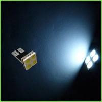 12V T10 W5W 4SMD 1210 3528 Wedge Car Lights lampe de plaque d'immatriculation lampe de lecture 4LED ampoules de plaque d'immatriculation automatique clignotants