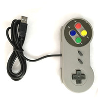 USB Wired Gamepad 6 Digital Button Joypad SNES SFC Classic C...