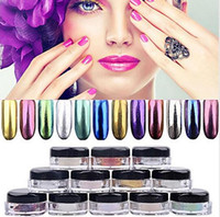 12 colors Metal Nail Art Tip Decoration Pigment Glitters Dus...