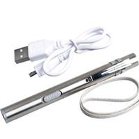 Taşınabilir USB şarj edilebilir LED el feneri su geçirmez Mini meşale paslanmaz çelik el feneri torch usb ışık USB Kablosu ile
