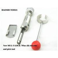 Haoshi 2 في 1 Pick and Decoder أداة لإسرائيل 7pin 5pin Mul-T-Lock Lock Tools (يمين).، أدوات الأقفال قفل القفل مجموعة