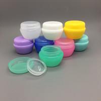 5 ml champignon forme boîte PP Cosmétique Vide Bouteille Emballage Cas De Couleur De Sucrerie crème pour le visage échantillon pot avec revêtement transparent