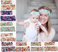 INS Matching Mother and Daughter Headband Set 2pcs Floral Pr...