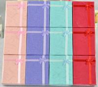 ألوان متنوعة مجموعات مجوهرات عرض مربع قلادة أقراط خاتم مربع 5 * 8 تغليف هدية مربع G400