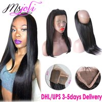 360 lace frontals straight human hair Indian virgin hair bea...