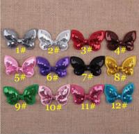 Toptan yeni bebek bow bantlar el yapımı bebek kız saç aksesuarları DIY Flaş glitter yay sequins kafa bantları YH571