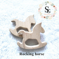 10 pcs lot Natural Wood Teether - rocking horse teether. Hig...