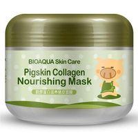 розничная BIOAQUA уход за кожей свиной кожи коллаген питательная маска газированные пузырь глина Маска Elizavecca молочный поросенок увлажняющий маски для лица сна
