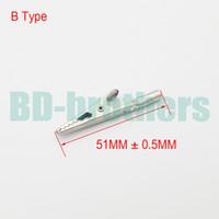 Pinza de cocodrilo de cola redonda de metal pinza de cocodrilo eléctrica para medidor de sonda de prueba 51 mm tipo B accesorios de hardware 4000 unids / lote