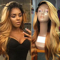 Perruques en dentelle pleine dentelle sans glucides avec cheveux bébé 150% Brésilien Vierge Virgin Loe Wave Dentelle Honey Honey Wig Blonde pour femmes noires