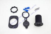 Dual USB-laddare för motorcykel Scooter ATV-båt 12V 2A Vattentät socket nätadapter med rutan