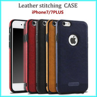 For iPhone x 8 7 plus S8 S9 NOTE 8 Business Leather Pattern ...