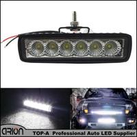Veicolo 18W Flood LED luce di lavoro ATV Off Road Light Lampada Nebbia Driving Light Bar Per 4x4 Offroad SUV Auto Camion rimorchio trattore UTV