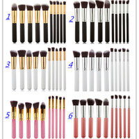 Hot Makeup Brushes Tools Sets 10 pcs Make Up Brushes Set Pro...