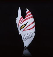 1 adet / grup Kurosaki Ichigo Maskeleri Cadılar Bayramı Yarım Yüz BLEACH Parti Cosplay Maske Koleksiyonu Için