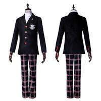 Persona 5 Kahramanı Ceket Kaban Üst Cosplay Kostüm Kıyafet Kıyafet Suit Üniforma