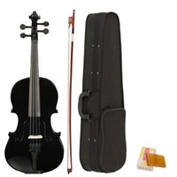 wholesale 4 4 Full Size Acoustic Violin Fiddle Black with Ca...