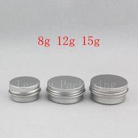 8g 12g 15g Pequeño pequeño Bálsamo vacío Bálsamo de aluminio Mini Tamaño de viaje Metal Cosmética Crema Tarro Muestra Cuidado de la piel Crema Crema Envase