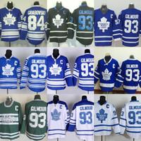 Toronto-Ahorn-Blätter der Fabrik-Outlet-Männer # 84 Grabovski # 93 Gilmour-Blau-Weiß-Schwarz-Grün-neueste heiße Verkaufs-beste Hockey Jerseys geben Verschiffen frei