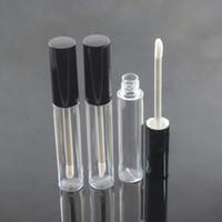 Contenitore per labbra lip gloss vuoto da 10ml, flaconcino per lipgloss, confezione per tubo lip gloss rotondo vuoto con cappuccio nero argento F20171167