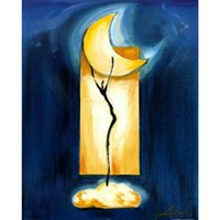 Handmade oil painting Alfred Gockel Moon Dance modern art ab...