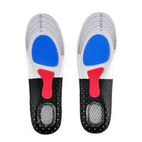 للجنسين تقويم العظام قوس الدعم حذاء سادة رياضة الجري جل النعال إدراج وسادة للرجال النساء 35-40 حجم 40-46 الحجم لاختيار 0613027