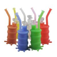 Nuevo Mini Bongs de Silicona Tubos de Agua Bongs de vidrio A Base de Hierbas Dab Oil Rig Tubos de Agua Bongs de Vidrio de Colores