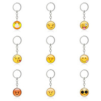 High quality Emoticons Smile Time Gemstone Key Chain Metal G...