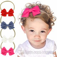 New Baby Headbands Bows Girls Cotton Bowknot Hairbands Child...
