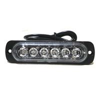 유니버설 6-LED 적색 / 백색 광 16- 깜박임 모드 자동차 트럭 경고주의 비상 시공 스트로브 LED 라이트 바