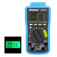 Freeshipping 자동 범위 디지털 멀티 미터 DMM Cap.HZ 온도 측정기 배터리 테스터 / USB PC 링크 자동 LCD 백라이트