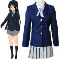 アニメK-on Cosplay HiraSawa和野裕之Azusa Akiyama Mioハロウィーンコスチューム注ぐフェムメスはハイバーの制服スコラを満たす