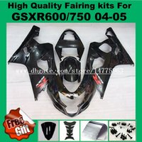 fairings تناسب 100 ٪ لسوزوكي GSXR600 GSXR750 2004 2005 GSXR 600 750 04 05 injection Fairing kit black + 9gifts