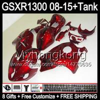 8gifts rosso lucido per SUZUKI Hayabusa GSXR1300 08 15 GSXR-1300 14MY133 GSXR 1300 GSX R1300 08 09 10 11 12 13 14 15 Carenatura TOP rosso lucido Kit