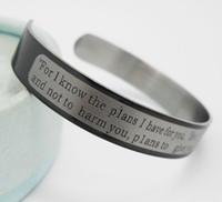 12 pz Jeremiah 2911 signori preghiera in acciaio inox braccialetti bracciali uomo 2017 fashon braccialetti all'ingrosso polsino gioielli religiosi lotti