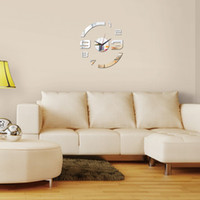 Wholesale- new creative arc acrylic mirror wall clock watch ...