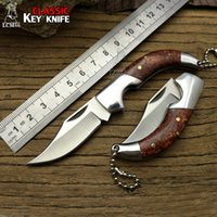 LCM66 Mini Couteau Pliant, Couteaux de Survie à Tige d'Acier, Mini Couteau à Poche de Secours très pointu, Couteau à Clé à Couteaux Browning Tools Couteau à Carte